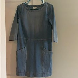 Anthropologie Distressed Denim Dress